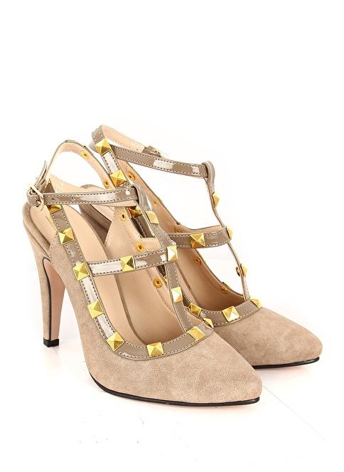 G.Ö.N. Topuklu Ayakkabı Bej